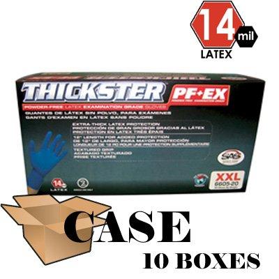 SAS Safety 6602 Medium Lightly Powdered Thickster Examination Gloves-CASE