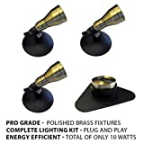 Patriot Brass LED Waterproof Pond and Landscape Lighting 10 Watt Light Kit P-B3