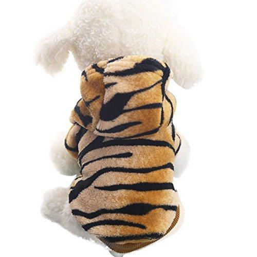 Pet Cute Clothing, Howstar Puppy Leopard Hoody Coat Doggie Winter Warm Outfit (XXS, Coffee) ()