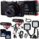 Sony Cyber-shot DSC-RX100 III Digital Camera International Version (No Warranty) w/Atomos Ninja Flame 4k Recorder Advanced Vlogging Kit