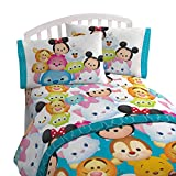 Disney Tsum Tsum 'Character' Teal Microfiber 3 Piece Twin Sheet Set