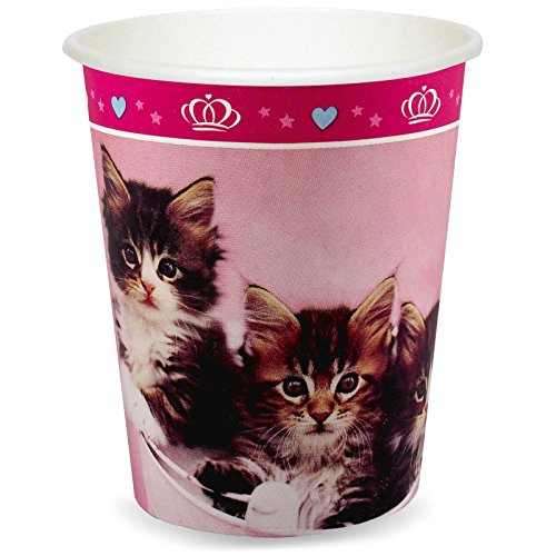 BirthdayExpress Rachael Hale Glamour Cats Party Supplies - 9 oz. Cups (8)