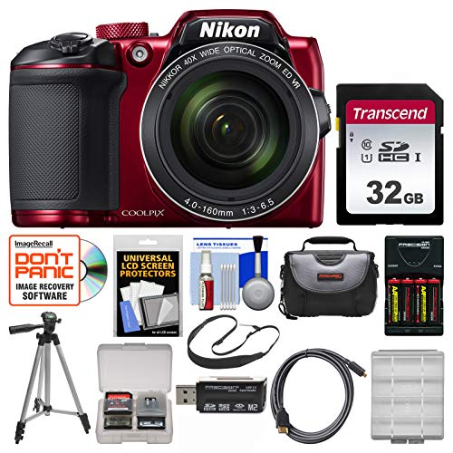 Nikon Coolpix B500 Wi-Fi Digital Camera  with 32GB Card + Ca