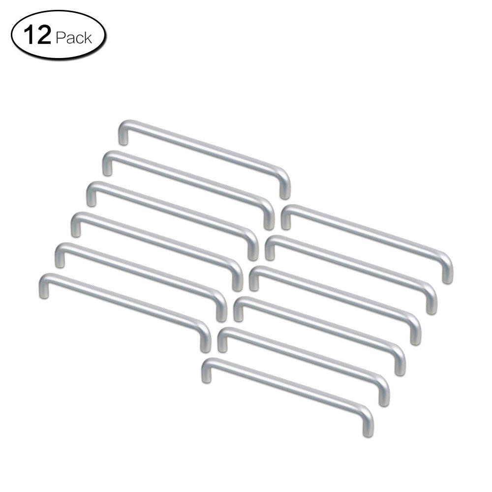 Zhi Jin 12leicht Aluminium Schrank Griff Hardware Schublade Griffe Möbel Silber, Hole Centers-96mm/3.7Inch
