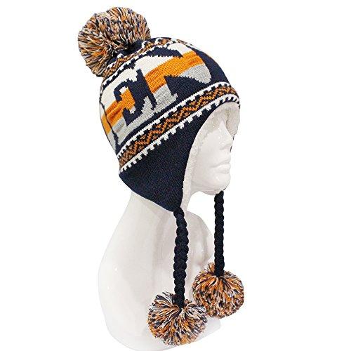ab28234dd93 ChoKoLids Football Team City Name Knitted Pom Pom Earflap Winter ...