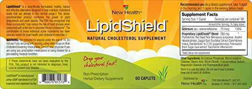 New Health Lipidshield Plus - 60 Caplets - Healthy & Natural Cholesterol Alternative - Herbal Dietary Supplement by New Health (Image #5)