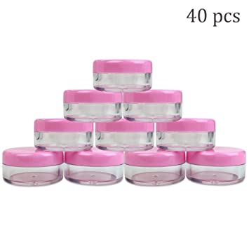 Amazon.com: 40 recipientes de 10 gramos de plástico para ...