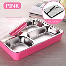 VIVISKY Stainless Steel Adults Lunch Box Containers with Insulation Bags Protable Bento Box for Outdoor/School/Office-Three Color