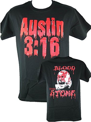 (Blood from a Stone Cold Steve Austin Bloody Face Mens Black)