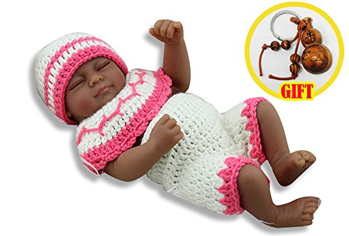 10 Inch Mini Silicone Reborn Baby Girls Doll Sleeping Realistic Newborn Dolls Baby Toys Gift For Little Mommy