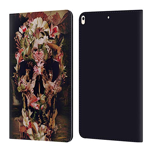 (Official Ali Gulec Jungle Skull The Message Leather Book Wallet Case Cover Compatible for iPad Air (2019) )