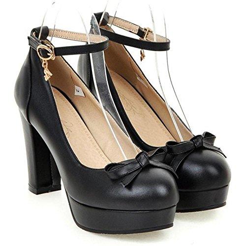 Coolcept Women Schwarz Court Schuhe Plattform Einfache zzfRr