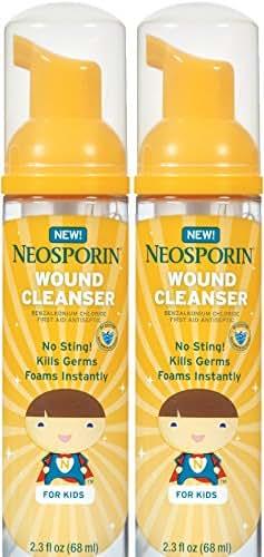 Neosporin First Aid Antiseptic Foaming Liquid, 2.3 oz (Pack of 2)