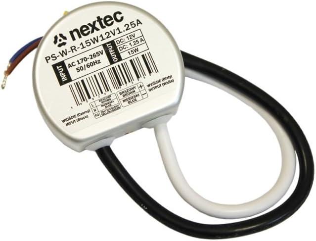 conductor -/sin carga m/ínima /40/W Fuente de alimentaci/ón DC 1/ Transformador LED 12/V redondo