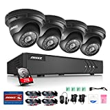 ANNKE 960P HD H.264+ Video Security System 1080N DVR Recorder with 2TB Hard Disk and (4) 1.3MP Indoor/Outdoor IP66 Weatherproof Dome Camera, Smart Playback, Easy Remote Access, Super Night Vision
