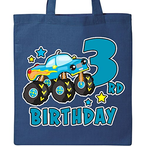 Inktastic - 3rd Birthday Monster Truck Tote Bag Royal Blue 31a9b - 3rd Birthday Bag