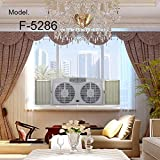 Optimus F-5286 Reversible Twin Window Fan with