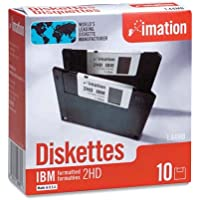 Imation - 3-1/2 Diskettes, Formatted, PC Format, 1.44MB, DS-HD