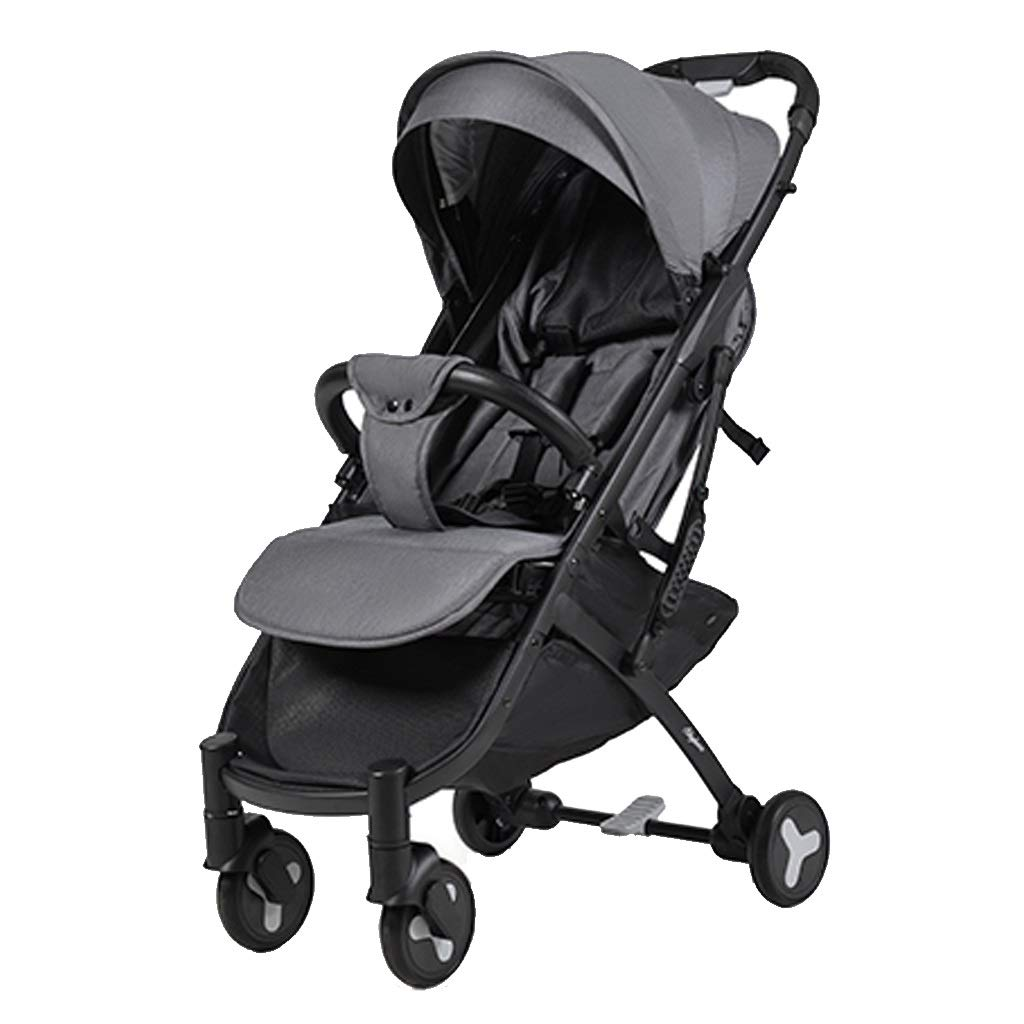 Lightweight Baby Stroller Universal Baby Sun And Sleep Stroller Cover - Baby Pram Sunshade Newborn Buggy Canopy Toddler Pushchair Infant Prams Sun Shade Ultraviolet-proof Cover, Black ( Color : Gray )