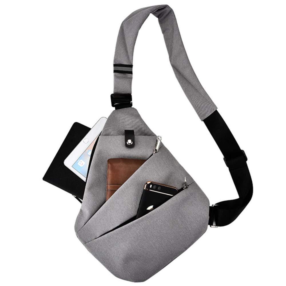 Waterproof Shoulder Bags Men Business Style Chest Bag Mens Nylon Messenger Bags Men Fashion Crossbody Bag Men Black
