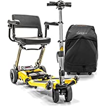 LUGGIE ELITE Mobility Folding Scooter 10.5AH Lithium Power + Armrests & Travel Bag