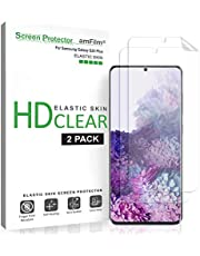 amFilm Galaxy S20 Plus Screen Protector (2 Pack), Case Friendly (Fingerprint Scanner Compatible) HD Clear Flexible Elastic Skin TPU Film (Easy Installation) Screen Protector for Samsung Galaxy S20+