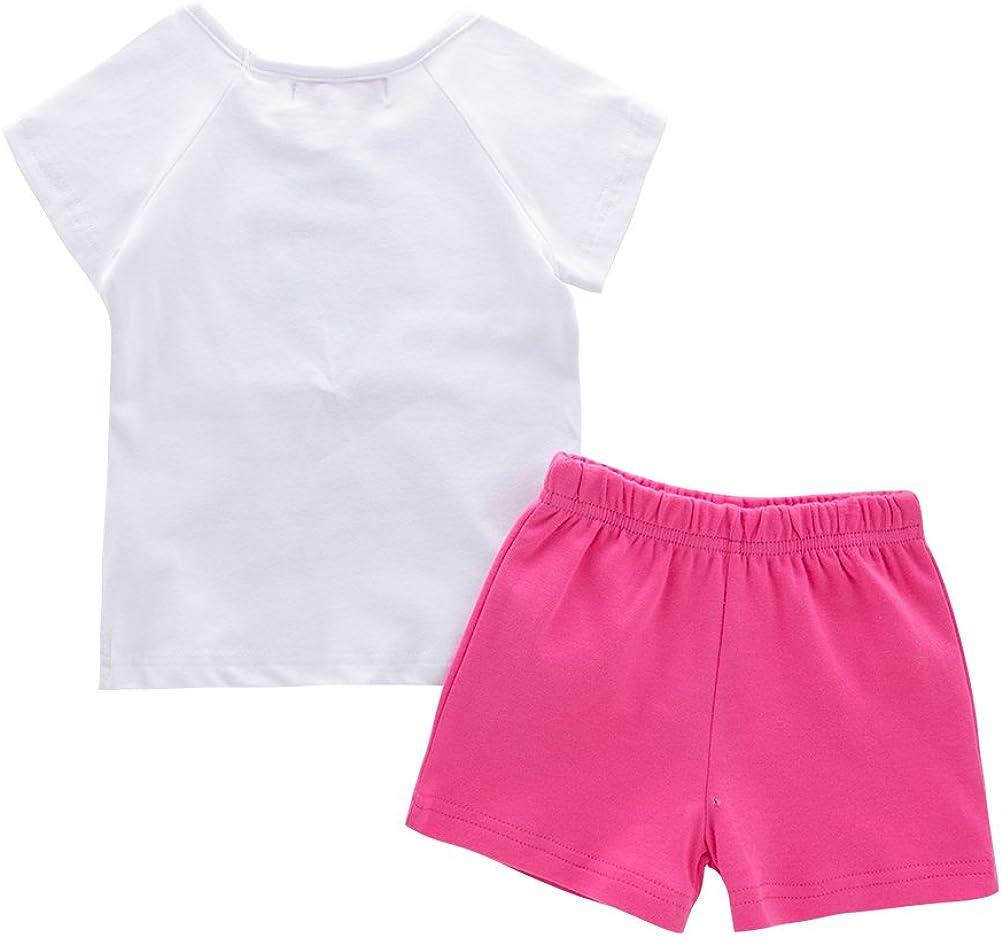 Mays Baby Girls Short Sleeves T-shirts Short Pants 2 pieces sets