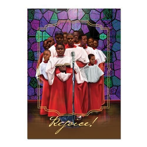 "Search : African American Expressions - Children's Choir/Rejoice Boxed Christmas Cards (15 cards, 5"" x 7"") C-941"