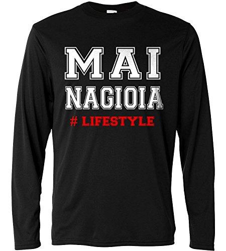 T-shirt a manica lunga Uomo - Mai na gioia Lifestyle - Long Sleeve 100% cotone LaMAGLIERIA