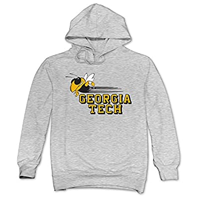 XJBD Men's Georgia Institute Of Technology Hoodies Ash