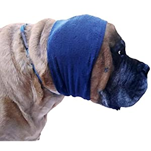 Happy Hoodie X-Large, Navy Blue for big dogs like Shepherds, Goldens, Chows, Malamutes, Pit Bulls, helps calm, comfort and protect your dog 8
