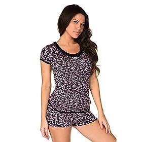 Velvet-Kitten--simplemente-Me-SHORT-Set-Women-Pajama-Set-Sexy-PJ