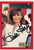 Linda Gray autographed trading card Dallas SC 1981 Donruss #47 Sue Ellen Ewing