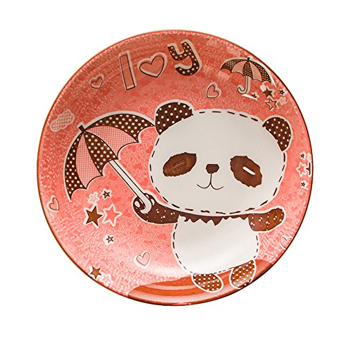 WAIT FLY Cartoon Panda Shaped Ceramics Plate Serving Plate/ Deep Dish/ Meal Tray/ Appetizer Plates/ Luncheon Plates/ Dinner Plates Dessert Fruit Buffet Salad Dishes