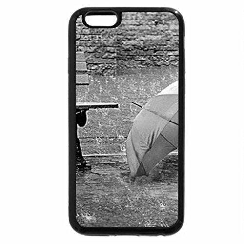 iPhone 6S Case, iPhone 6 Case (Black & White) - a long rainy day