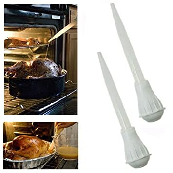 x jeringa de cocina utensilios de cocina barbacoa sabor carne comida basting tubo de medicin
