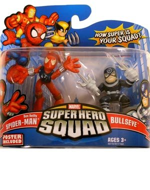 Ben Reilly Spider Man Costumes (Marvel Superhero Squad Series 13 Mini 3 Inch Figure 2-Pack