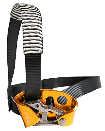 Gracefulvara Left & Right Foot Ascender Riser Rock Climbing Mountaineering Equipment Gear