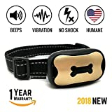jack russell terrier collar - Dog No Bark Collar - Anti Barking Vibration Control Device for Small Medium Large Dogs - Puppy Training Deterrent - No shock 2018 MODEL - FAST RESULTS!