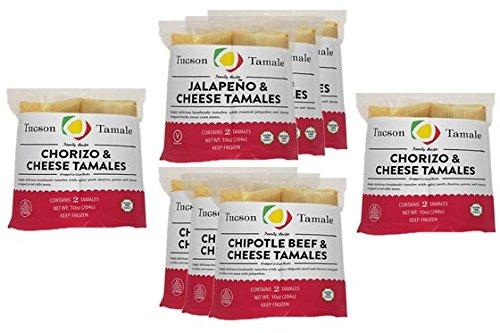 16 Hot & Spicy Gourmet Tamales - Tucson Tamale