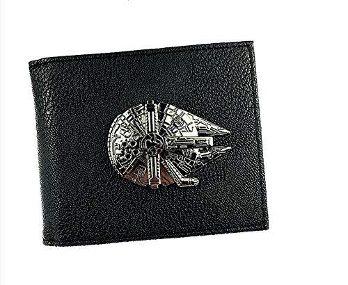 Star Wars Black 3-D Bifold Wallet Millennium Falcon