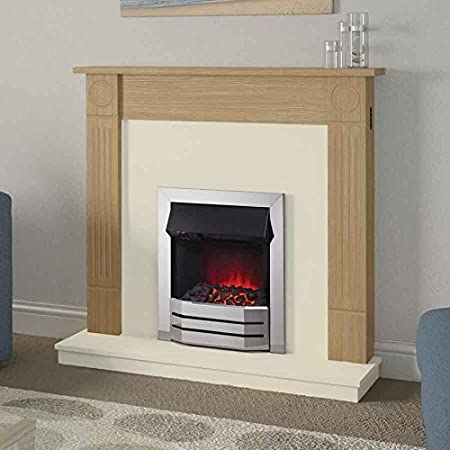 Radley Be Modern Electric Fireplace Remote Control Natural Oak 42