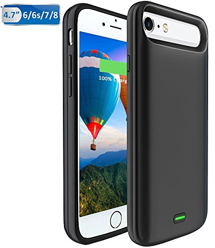 online store 0cce8 baba6 5500mAh iPhone 6/6S/7/8 Battery case, Vproof Portable Charger Charging Case  Rechargeable External Battery Pack Protective Cover for Apple iPhone ...