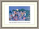 Framed Art Print 'Quilting Time' by Faith Ringgold