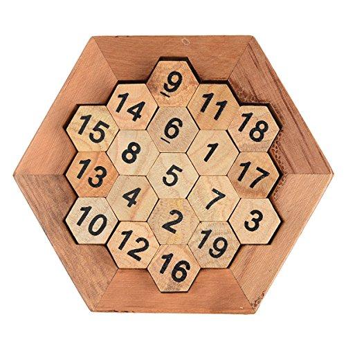 Brain Teaser木製六角デジタルに等しい38数学合計パズルボードゲームおもちゃ