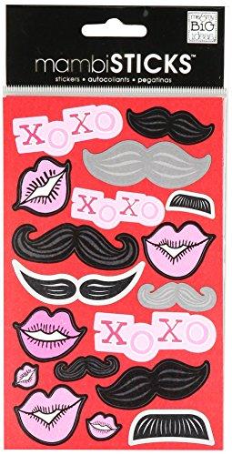 me & my BIG ideas mambiSTICKS Sticker Pack, Lips/Mustache