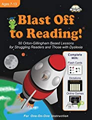 This is an affordable OG program with FREE online tools & games! This includes:  1. Flash Cards (online, code from book needed) 2. Audio Dictations (online) 3. Fun online phonics games that your child will love!  Blast Off to R...