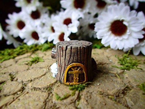 Miniature Fairy Garden Tree Stump House, Fairy Garden Cement Concrete Home, Micro Fairy Garden House Decoration