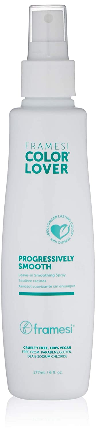 Framesi Color Lover Progressively Smooth Leave In Smoothing Spray, 6 fl oz, Leave In Conditioner for Color Treated Hair