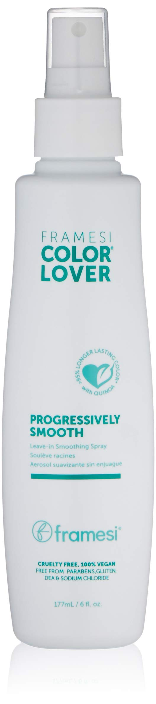 Framesi Color Lover Progressively Smooth - 6 Ounce, Color Safe Leave In Smoothing Spray, Anti-Frizz Spray, Vegan, Gluten Free, Cruelty Free by framesi